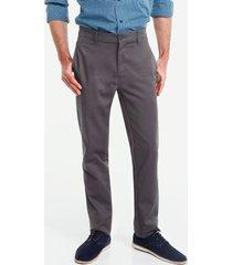 pantalon con bolsillos laterales gris 38