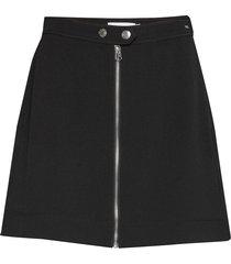 double crepe mini skirt kort kjol svart calvin klein