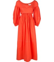 panelled ruched dress