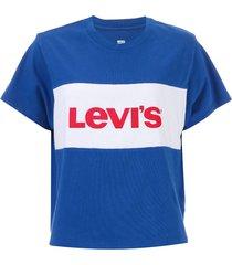 womens graphic colour block varsity t-shirt