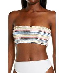 billabong gimme sun smock tube bikini top, size large in multi at nordstrom