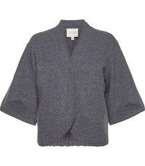 bea stickad tröja cardigan grå dagmar