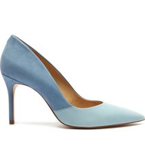 lou lo duo leather pump - 7 summer jeans and wonder blue nubuck