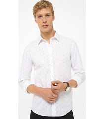 camicia slim-fit in cotone stretch con stampa kors