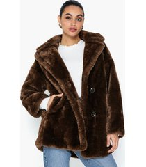 topshop soft borg coat faux fur