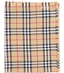 burberry vintage check gauze scarf