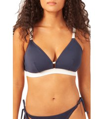 plus size women's lively the busty swim bralette, size 2 - blue