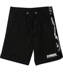 diesel black bermuda shorts