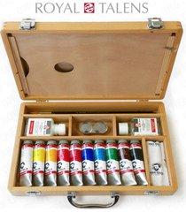 royal talens - van gogh acrylic art set in premium wooden case