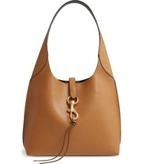 rebecca minkoff megan leather hobo bag - brown