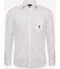 camisa aleatory botonê com bolso masculina