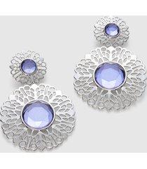 lane bryant women's convertible filigree beaded drop earrings onesz lilac blooms