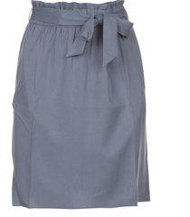 rok met bijpassende strikceintuur  blauw