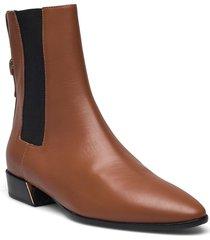 furla grace shoes boots ankle boots ankle boot - flat brun furla