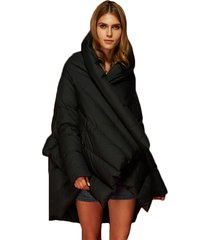 cappotto di mantello del mantello del collare di modo per le donne
