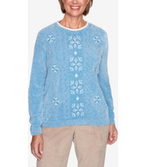 women's plus size dover cliffs medallion center embroidery sweater
