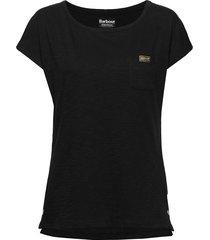 b.intl apex top t-shirts & tops short-sleeved svart barbour
