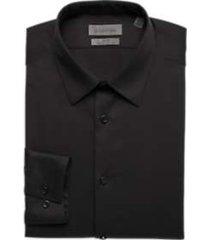 calvin klein infinite black non iron extreme slim fit stretch dress shirt