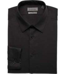 calvin klein infinite black non iron extreme slim fit dress shirt