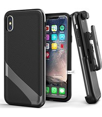 iphone x belt case w/ screen protector, encased [lexion series] premium dual lay
