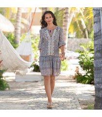 sundance catalog women's zuri discovery dress in mosaic xs