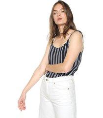 blusa azul-blanco active