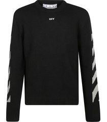 off-white arrow crewneck high rise sweatshirt