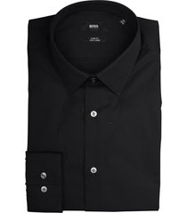 hugo boss overhemd isko zwart slim fit 50427541/001