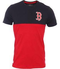 camiseta new era new york yankees colour block - negro/rojo