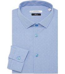 trend-fit dot-print dress shirt