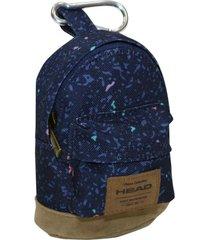 mini mochila llavero azul head
