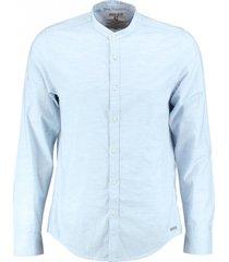 garcia soepel stevig lichtblauw overhemd katoen valt kleiner