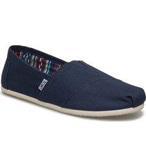 navy canvas espadriller skor blå toms