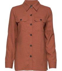 6253 - jen långärmad skjorta orange sand