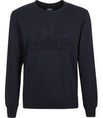 c.p. company logo embroidered sweatshirt