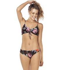 bikini tipo top animal print multicolor lisantino