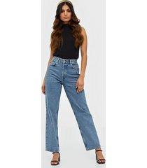 selected femme slfkate hw straight rail blue jeans straight