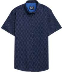 joe joseph abboud repreve® blue dot short sleeve sport shirt