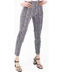 pantalon para mujer en bengalina multicolor color-negro-talla-14