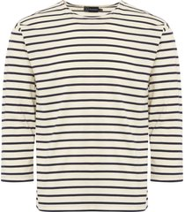armor lux natural & navy beg meil breton striped t-shirt 01526-395