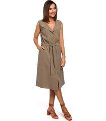 lange jurk style s209 utility jumpsuit - oranje