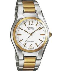 reloj casio mtp 1253sg 7a - plateado con dorado