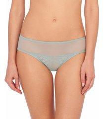 natori intimates cherry blossom girl brief panty, women's, 100% cotton, size l