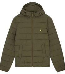 lyle and scott jk1546v lyle&scott lightweight puffer jacket, w485 olive