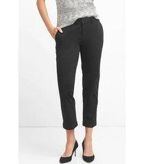 pantalon slim city crop mujer negro gap