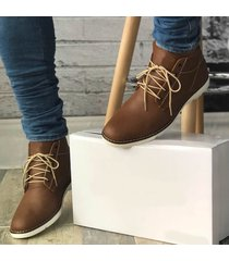 zapatos oxford liso - cafe