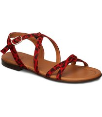 sandals shoes summer shoes flat sandals röd billi bi