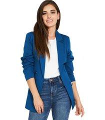 blazer botones decorativos azul nicopoly