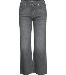 wide leg crop pant vida jeans grå calvin klein