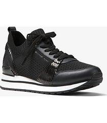 mk sneaker billie in maglia - nero (nero) - michael kors